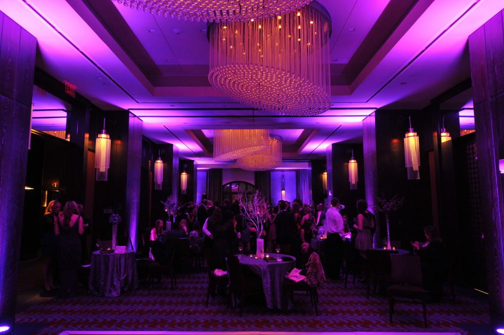 Joule Hotel Dallas Wedding Purple Uplighting