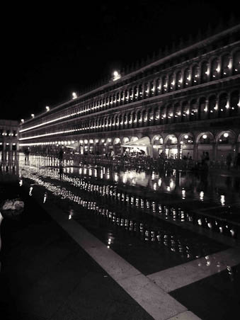 St. Marks Square at High Tide in Venice Italy