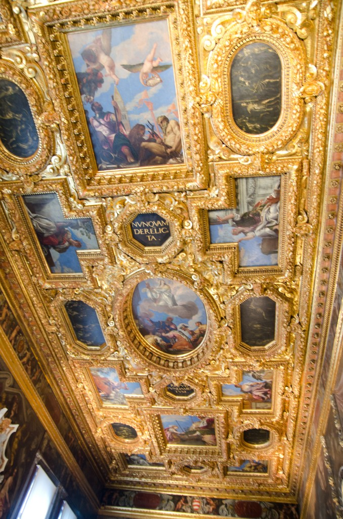 Ornate Ceiling in Doge's Palace