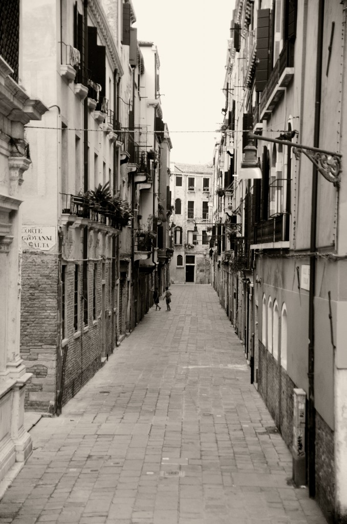 Streets of Venice Italy Early in the Morning